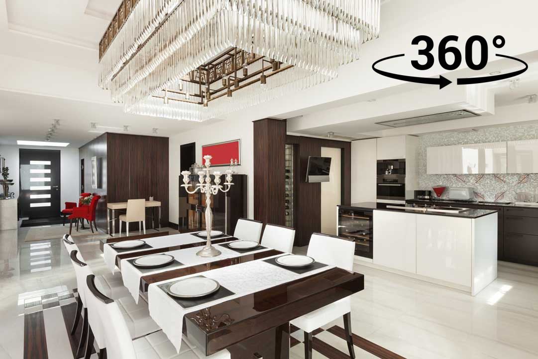 interiors, luxury dining room